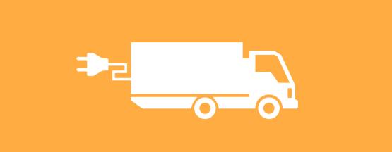 Illustration av lastbil med elsladd